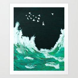 Waves of the Tasman Sea Art Print