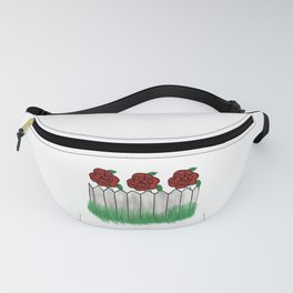 Roses Behind the Picket Fence Fanny Pack