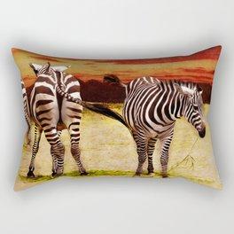 The Zebras Rectangular Pillow