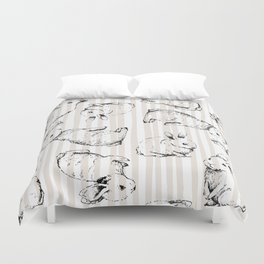 Vintage Bunnies Duvet Cover