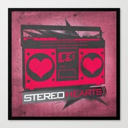 Stereo Hearts Canvas Print