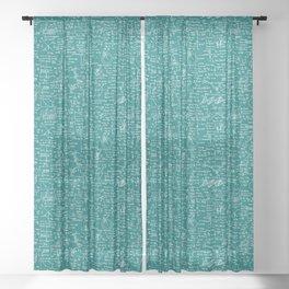 Physics Equations // Teal Sheer Curtain