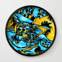 Hedonic Cloud D.E. Wall Clock