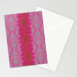 Pink Symmetry Stationery Cards