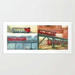 Subway Seasons Art Print