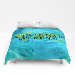 The World Belongs to Those Who Read - Watercolour Comforters