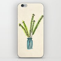 plant iPhone & iPod Skins featuring Plant by Angeli Patel