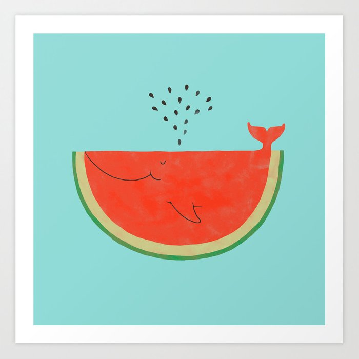 Don't let the seed stop you from enjoying the watermelon Kunstdrucke