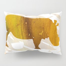 Colorful Art Rhino Abstract Yellow Pillow Sham