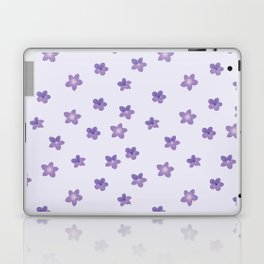 Abstract lilac violet lavender modern floral pattern Laptop & iPad Skin