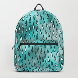 Aqua Raindrops Backpack