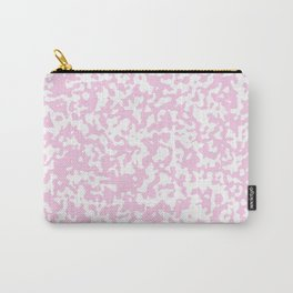 Small Spots - White and Classic Rose Pink Carry-All Pouch