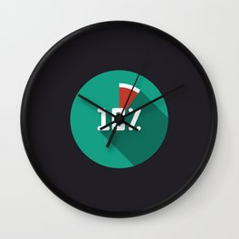 "Illustration ""percentage - 10%"" with long shadow in new modern flat design Wall Clock"