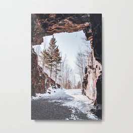 Tunnel Views to the Forest-Landscape Photography Metal Print