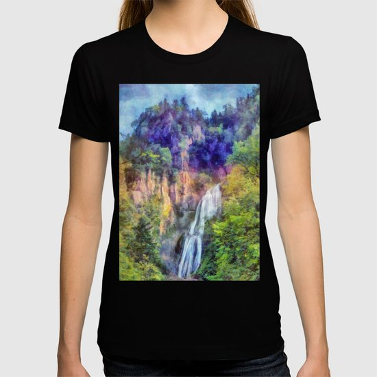 Mountain waterfall by catyarte