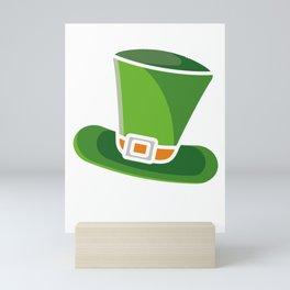 Leprechaun Hat Clover St Patrick's Day Beer Feast Irish Shamrock Ireland Gift Mini Art Print