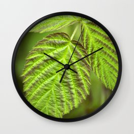 Spring Leaf Abstract Wall Clock