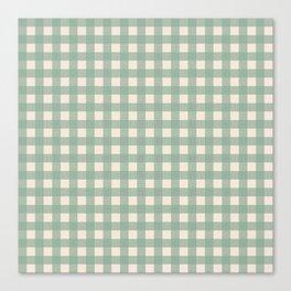 Buffalo Checks Plaid in Sage Green on Cream Canvas Print