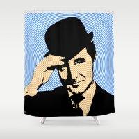 england Shower Curtains featuring Goodmorning England by Ganech joe