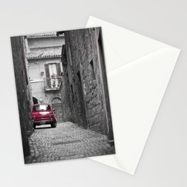 red car in black and white background Stationery Cards