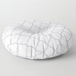 Quatrefoil - white and silver Floor Pillow