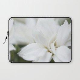 Snow White Flowers on a Dark Background #decor #society6 #buyart Laptop Sleeve