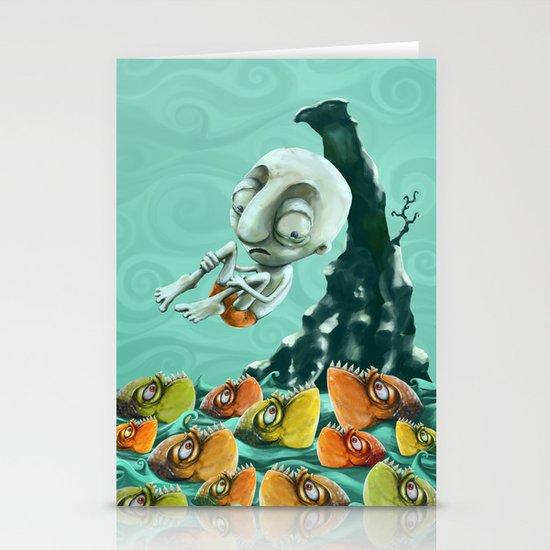 Take a Risk! - Piranhas Stationery Cards