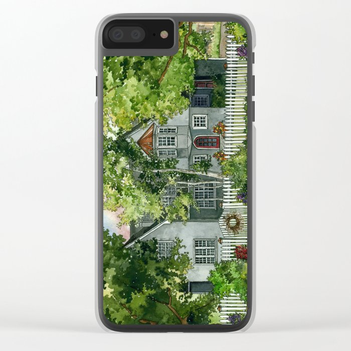 The Red Door Clear iPhone Case