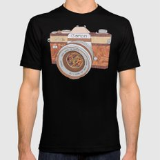 Wood Canon Black Mens Fitted Tee X-LARGE