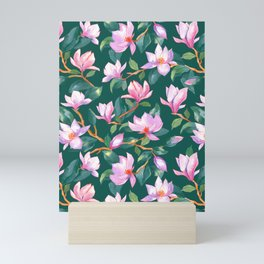 Blooming magnolia Mini Art Print