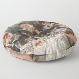 Luncheon of the Boating Party Painting, Pierre-Auguste Renoir Floor Pillow