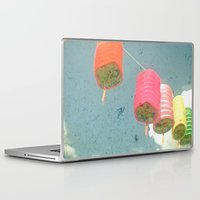 lanterns Laptop & iPad Skins featuring Lanterns by Cassia Beck