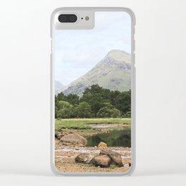 Here is realization - Glen Etive, Scotland Clear iPhone Case