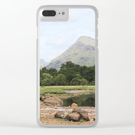 Here is realization - Glen Etive, Scotland Clear iPhone Case