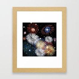 Grand Finale Firework Show Framed Art Print
