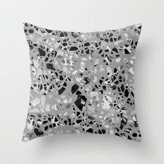 Graphic Terrazzo BW Throw Pillow