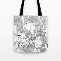 melbourne Tote Bags featuring MELBOURNE by Maps Factory