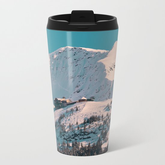 Mt. Alyeska Ski Resort - Alaska Metal Travel Mug
