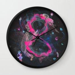 8 - infinity, abundance, success in business, Modern Feng Shui Wall Clock
