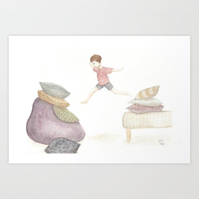 a girl can fly Art Print
