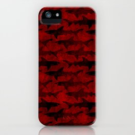 Blood Red Sharks iPhone Case