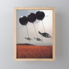 Black Balloons Framed Mini Art Print