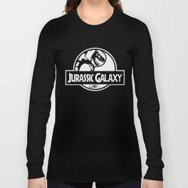 Jurassic Galaxy - White Long Sleeve T-shirt
