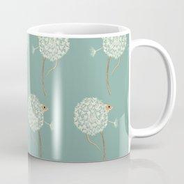 Mouse in a Dandelion Pattern Coffee Mug