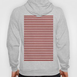 Red & White Maritime Small Stripes - Mix & Match with Simplicity of Life Hoody