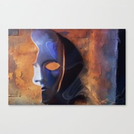 Disguise - pop surrealism, mask, phantom, face, half mask,  Canvas Print