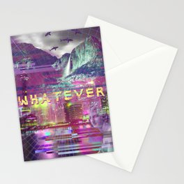 a e s t h e t i c WHATEVER vaporwave Stationery Cards
