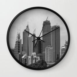 Retro Skyline Wall Clock