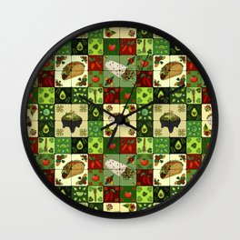 Mexican Restaurant Tiles Wall Clock