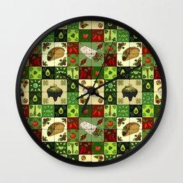 Mexican Restaurant Tiles Wall Clock